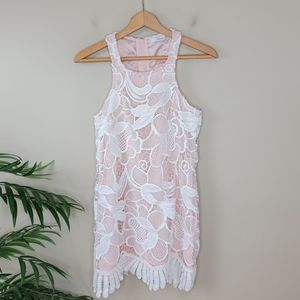 NWT Lovers + Friends | Lace Overlay Tank Dress